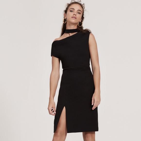 08ebd0b0d02 Finders Keepers Black Message Midi Dress Size S